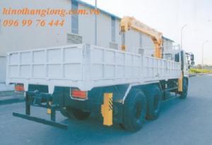 Xe tải cẩu 5 tấn 4 khúc