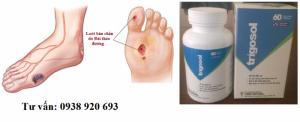 Phần lớn những người bị tiểu đường sau 5 năm sẽ bị suy giảm thể lực và dễ bị loét chân. Trigosol có tác dụng kìm hãm chỉ số đường huyết trong ngưỡng an toàn và ngăn ngừa biến chứng ở người bệnh tiểu đường.  Lọ 60 viên, giá bán: 200.000d/d hộp  Liên hệ: 0938 920 693