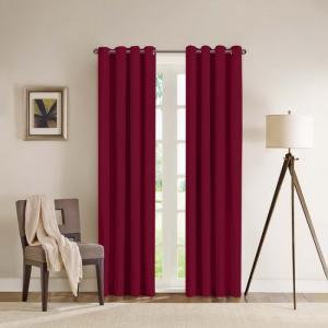 màn cửa biệt thự màu đỏ
