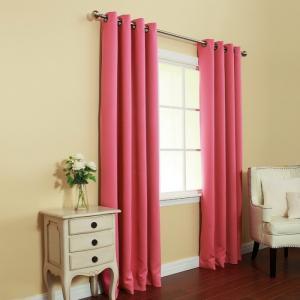 rèm biệt thự màu hồng