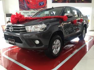 Khuyến Mãi Mua xe Toyota Bán Tải Hilux 2.4E 2017 Số Sàn 1 Cầu Màu Xám Nhập Thái Lan. Mua Trả Góp Chỉ 170Tr