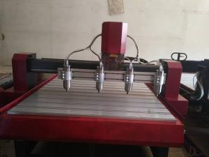 Máy cnc 1325 4 đầu đục, máy cnc chạm khắc gỗ, máy cnc sản xuát đồ nội thất