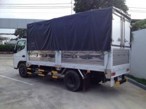 Xe tải Misubishi Fuso Canter 4.7 nâng tải lên 2T thùng mui bạt và thùng kín vào thành phố
