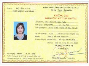 Học kế toán trưởng tại Hà Nội, Hải Phòng,...