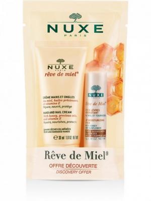 Set kem dưỡng tay và son dưỡng dạng thỏi Nuxe Reve De Miel