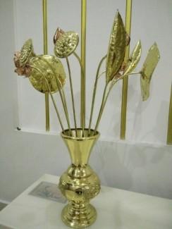 Bộ bình hoa sen đồng