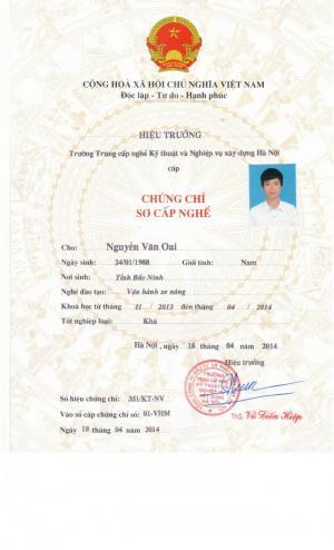 Đào tạo, cấp chứng chỉ nghề Hàn, Cơ khí