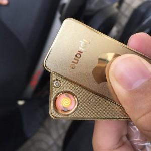 Bật lửa sạc điện Dinuo có móc khóa hình...