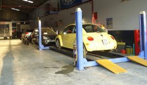 3 loại cầu nâng 4 trụ sửa xe ô tô giá rẻ phổ...