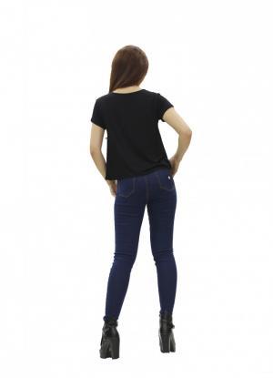 Áo thun nữ ngắn tay đen Fancy 100 cotton VNXK...