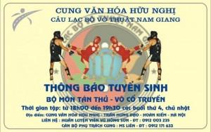 Tuyển sinh bộ môn Tán Thủ, Muya Thai, Kick boxing ở đâu
