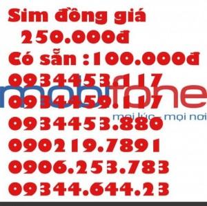 Sim đẹp Mobilephone tài khoản 100.000 đ