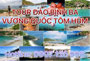 Tour du lịch Cam Ranh - Đảo Bình Ba 2 ngày 2 đêm - Tết Âm Lịch - KH tối mùng 2 và 3