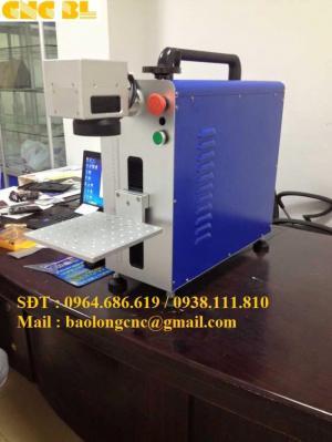 Máy laser fiber mini, máy laser khắc kim loại, máy laser fiber nhập khẩu