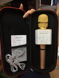 Mic hát karaoke cầm tay Micgeek Q9 kèm loa, kết nối bluetooth