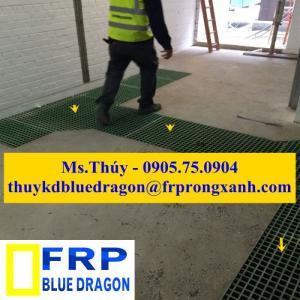 Tấm sàn lưới frp grating, sàn lót ngành công nghiệp kháng hóa chất