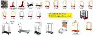 xe đẩy hành lý,xe đẩy hành lý khách sạn các loại,chất liệu inox 304,inox 201,sắt,inox vàng,đồng,...thảm cao su chống trượt, thảm mềm, bánh cao su đúc tải trọng lớn,...