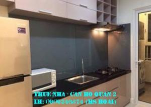 Cho thuê căn hộ cao cấp Masteri Thảo Điền, quận 2, 1PN,tầng 12  toà 4; giá 12tr/th.