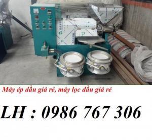 Cung cấp máy ép dầu lạc có 2 bình lọc 6yl-60,công suất 30kg/h giá tốt nhất.