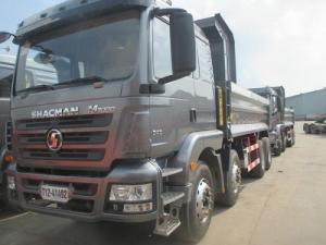 Xe ben shacman 4 chân công thức bánh xe 8x4 loại 2 cầu chủ động, tải trọng hàng hóa được phép chở 17 tấn