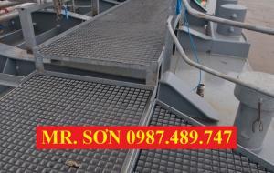 Tấm sàn lót chống ăn mòn, chống trượt, kháng hóa chất composite.