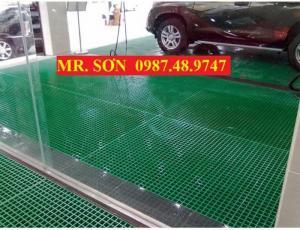 Tấm sàn chống trơn trượt, kháng hóa chất - frp grating