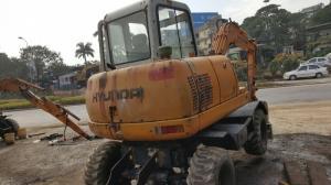 Máy đào bánh lốp Huyndai Robex 500W khuyến...