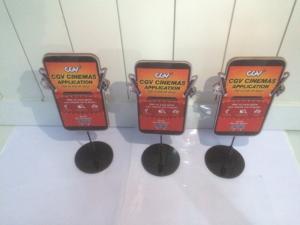 Wobbler để bàn CGV, wobbler quảng cáo CGV, mẫu wobbler CGV, wobbler đẹp, sản xuất wobbler để bàn