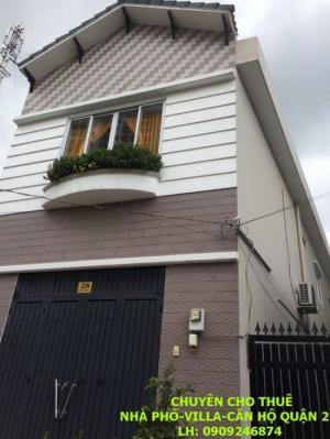 Cho thuê nhà phố khu vực The Vista, 5x16m,...
