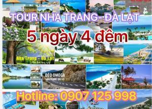 TOUR NHA TRANG -ĐÀ LẠT 5N4Đ