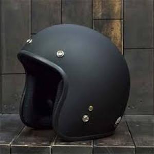 Mũ bảo hiểm 3/4 Dammtrax đen nhám (Việt Nam)