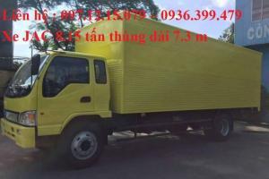 xe tải 8  tấn thùng kín mầu vàng màu đặc chủng của đơn vị bình minh tải
