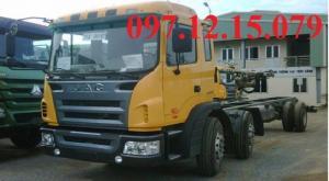 xe tải 3 chân chasis thùng dài 9.4 m lọt thùng đầu to