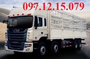 xe tải 4 chân thùng mui phủ bạt 2 dí 2 cầu thùng dài 9.4 m công suất 310 Hp.