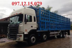 xe tải 4 chân đầu cao thùng dài 4 m công suất 380 Hp