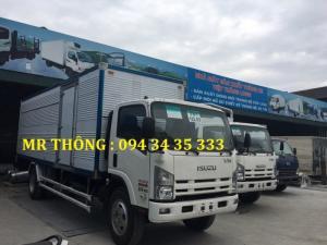 Isuzu fn129 tải trọng 8.2 tấn-thùng kín inox,hỗ trợ vay 80% giá trị xe