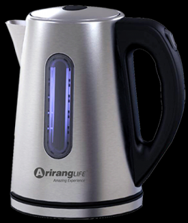 Ấm đun siêu tốc Inox ArirangLife - An toàn khi sử dụng với chế độ tự ngắt điện khi nước sôi hoặc ấm cạn nước