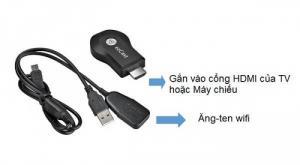 HDMI không dây EZcast M2S Truyền dữ liệu không dây từ điện thoại lên Tivi