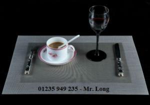 Tấm placemat, tấm lót dĩa, tấm lót chén, tấm lót ly, tấm trải bàn ăn