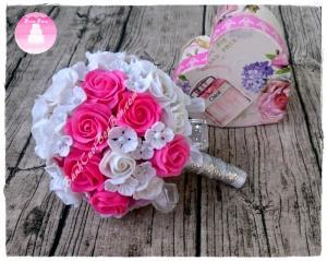 Hoa cưới đât sét Nhật bản,đẹp như hoa thật,lưu giữ mãi mãi, ship hoa toàn quốc