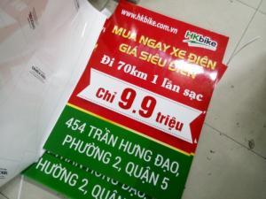 Poster Hkbike in PP cán màng bóng treo giá standee, in ấn tại InKyThuatSo