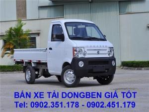 Xe tải nhẹ Dongben 770kg/ 810kg /870kg thùng kín, thùng lửng, mui bạt giá tốt
