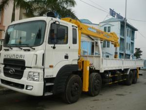 Xe tải 4 chân hyundai HD320 gắn cẩu 10 tấn Soosan SCS1010LS hotline: 0901718558 Web: xetaigancauhino@gmail.com