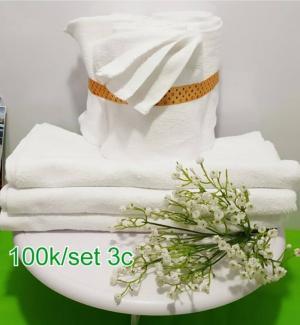 1 bộ gồm 3 khăn cùng size 60x120