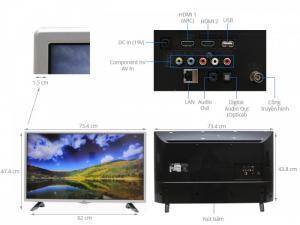 Thông số kỹ thuật Internet Tivi 32 inch LG 32LH570D