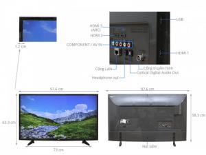 Thông số kỹ thuật Smart Tivi LG 43 inch 43UH617T