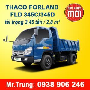 XE BEN THACO FLD345C tải trọng 3T45