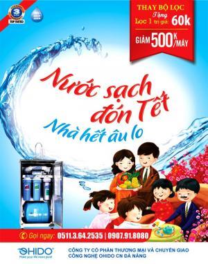 máy lọc nước Ohido Đà Nẵng khuyến mại giảm 500000đ