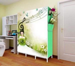Tủ vải đựng quần áo 3d 3 buồng 8 ngăn