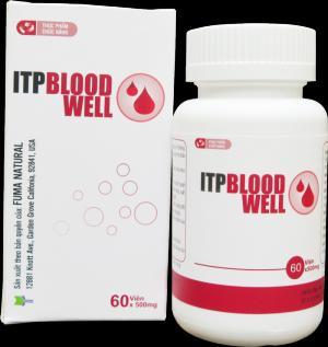 ITP Bloodwell hỗ trợ cho người giảm tiểu cầu cấp và mạn tính. Lọ 60 viên